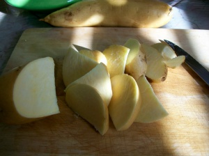 White sweet potatoes are much sweeter than orange yams