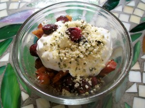 Greek Yogurt with Winter Fruit Bake