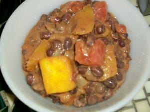 bean, squash, tomatoes