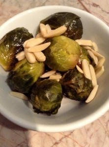 brussel sprouts w/sliced almonds