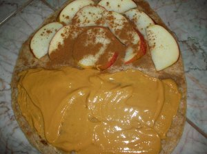 peanut butter apple sandwich