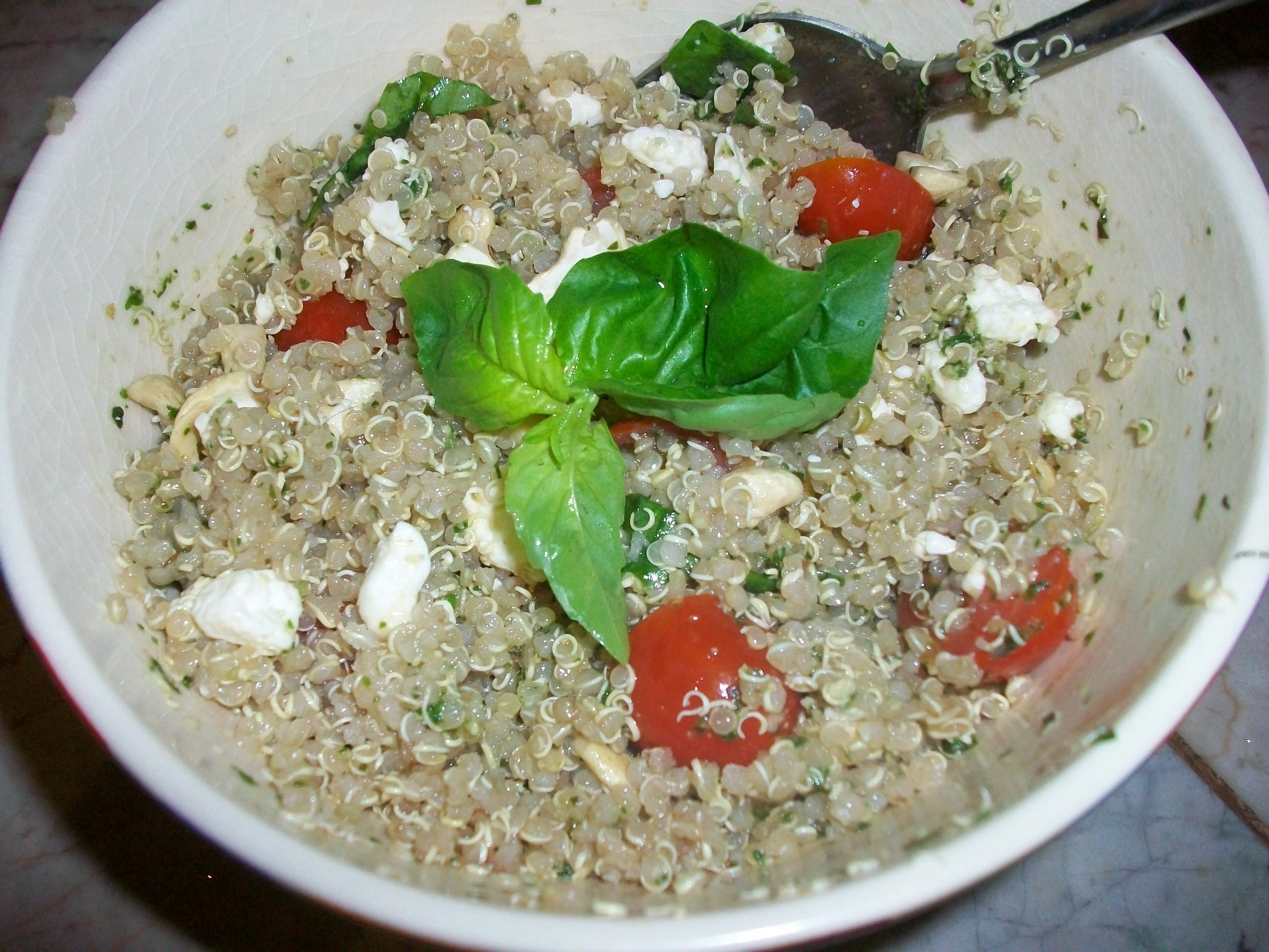 Chilled Quinoa Pesto Salad   CreateWholeHealth