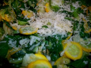 Spinach Squash Cabbage Stirfry