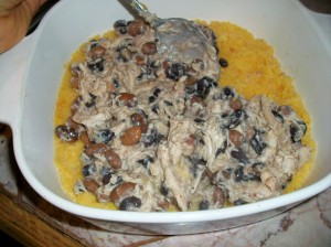 chicken beans and polenta