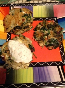 quinoa spinach feta patties