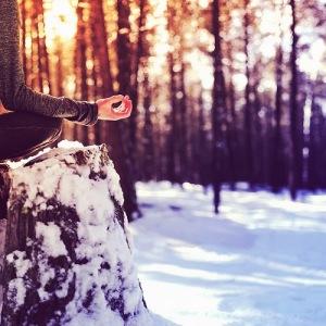 snowy meditation